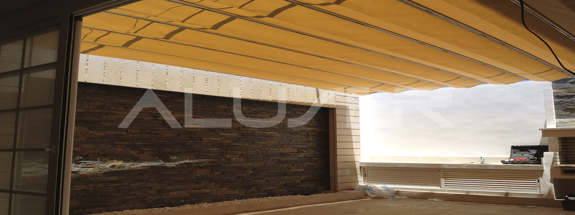 Toldo con luces led